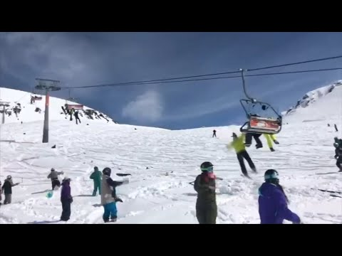 Skiers flung from malfunctioning lift in Georgia ski resort