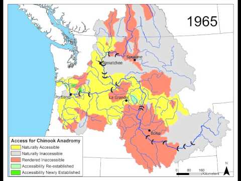 Columbia River Basin Salmon Extirpation Map