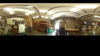 VR 360 in the Woodshop - Just Planing Down Some Poplar