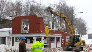 Old Mr. India building demolished.
