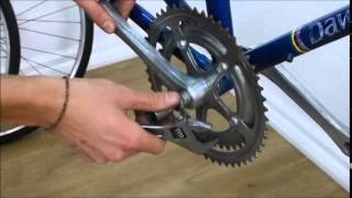 How To Remove a Bicycle Crankset Easily - Road Fixie MTB Bike Crank Video
