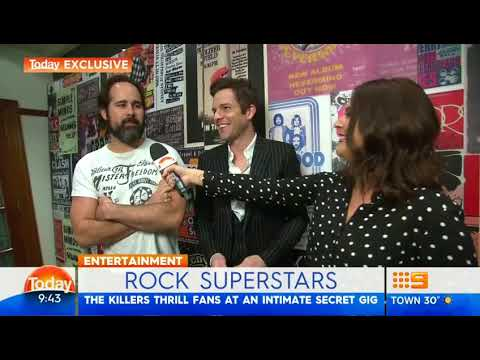 Interview with The Killers - Secret gig in Sydney, Australia - The Today Show