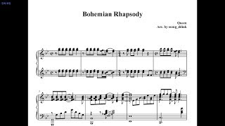 Queen, Bohemian Rhapsody Piano Cover, Sheet music, Bohemian Rhapsody OST