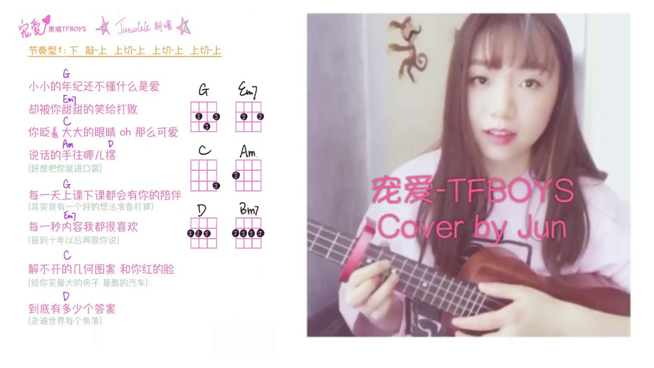 chong-aitfboys-cover-you-ke-li-li-jiao-xueukulele-tutorial-by-juncolele-eozok-jun