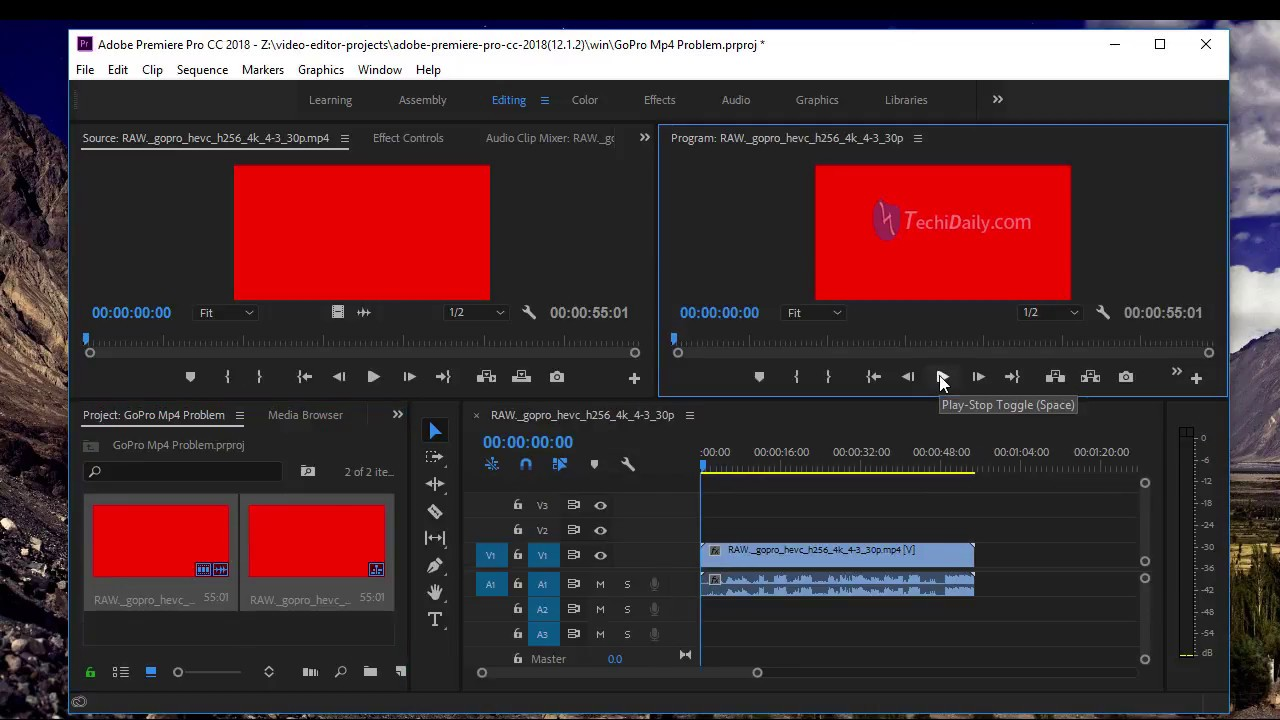Issue - Adobe Premiere Pro CC 2018(12 1 2) Can't import HEVC Videos
