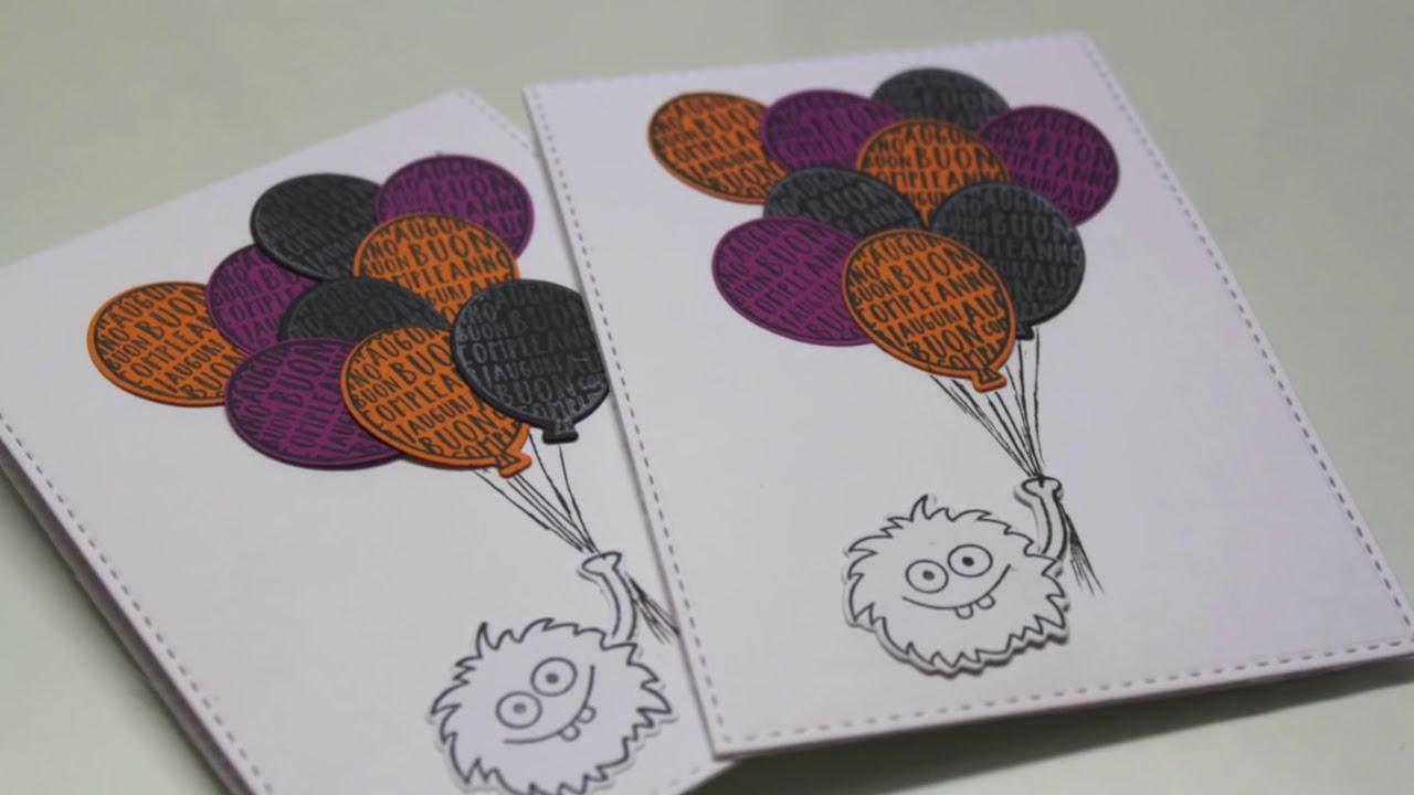 """Preferenza Card di Buon compleanno un pò """"Halloween""""-Biglietto Auguri Fai da  RM14"""