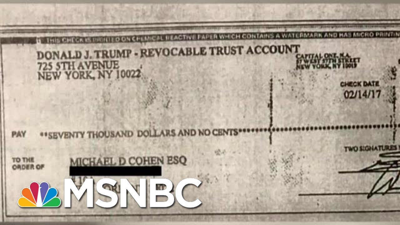 Reporter Ari Melber Breaks News On Trump's Check For Cohen Crime | The Beat With Ari Melber | MSNBC