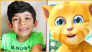 Talking Tom Plays with Jason on the Ipad, Funny Kids Reaction Gameplay