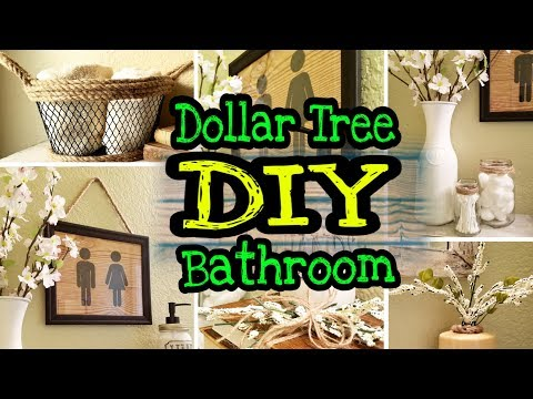 Dollar Tree Farmhouse DIY Bathroom Decor