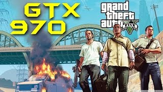 GTA V GTX 970 NON-OC | 1080p Optimal Settings by Nvidia | FRAME-RATE TEST