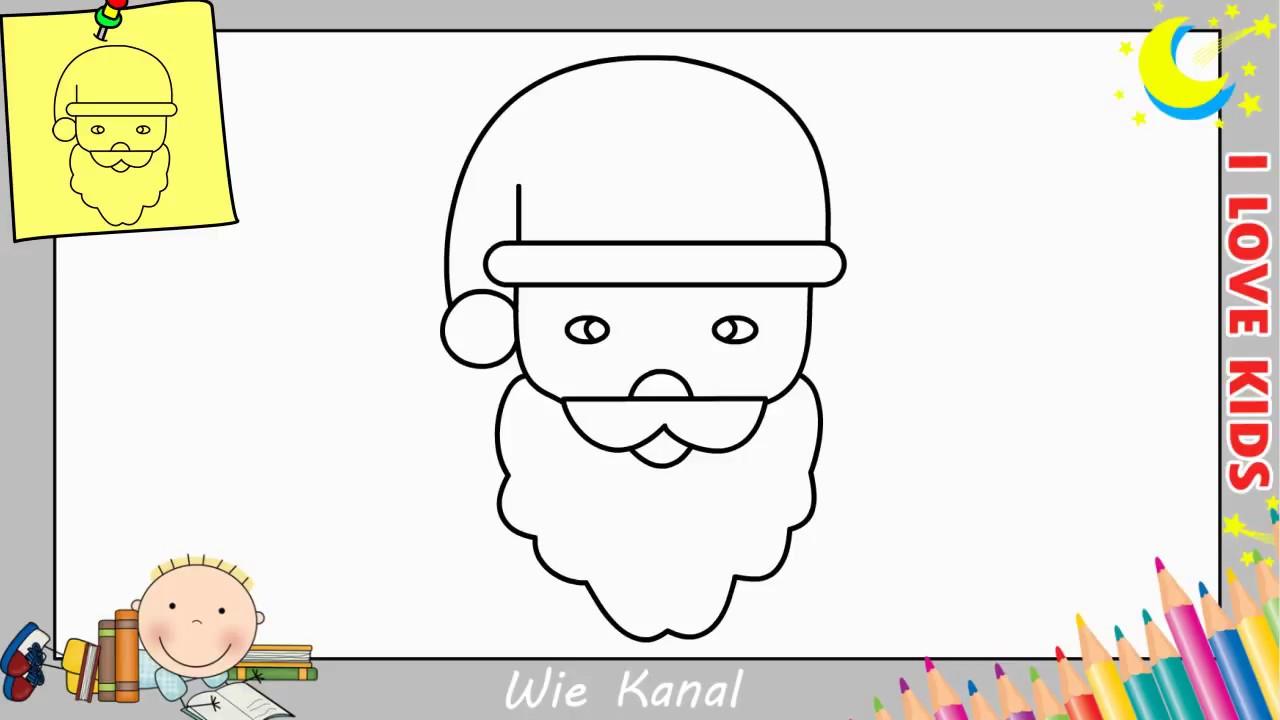 weihnachtsmann zeichnen lernen einfach schritt f r schritt 2 weihnachten youtube. Black Bedroom Furniture Sets. Home Design Ideas