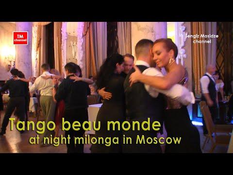 "Tango Beaumond On Milonga ""Moscow Tango Holidays 2020"". Танго бомонд на ночной милонге в Москве."