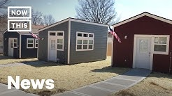 A Tiny Home Village Was Built for Homeless Veterans in Kansas City   NowThis