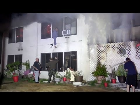 Garden Grove apartment fire kills 6 cats; man and woman jump from 2nd-story window