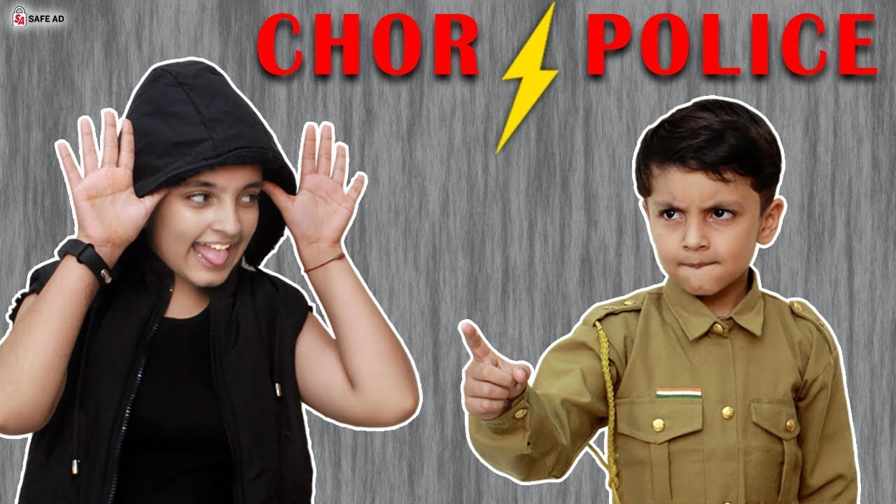 CHOR POLICE Children's Day Special #Funny Indoor Game for Kids | Aayu and Pihu Show