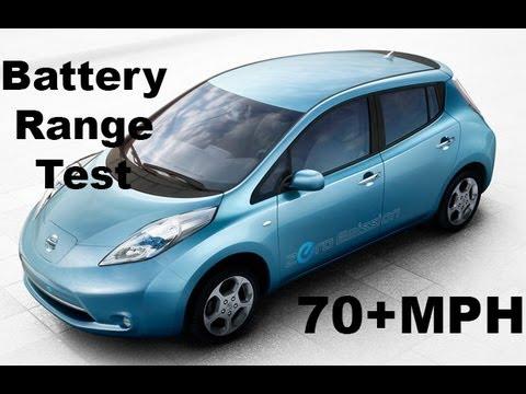nissan leaf electric car review 70 mph range test no cuts youtube. Black Bedroom Furniture Sets. Home Design Ideas