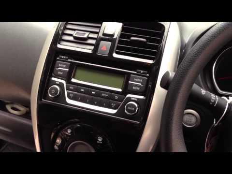 ถอดหน้ากากวิทยุรถยนต์ NISSAN ALMERA 2014