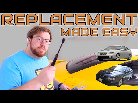 Replacing Pontiac GTO/Holden Monaro Trunk Lift Supports • Cars Simplified: Part Replacement