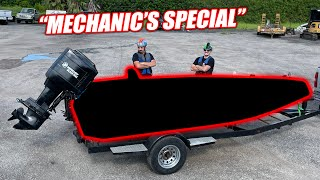 """homepage tile video photo for $2,500 Boat Challenge Part 2 - George/Zach Reveal Their Race Boat, the """"NIGHTMARE"""" (smokes a lot)"""