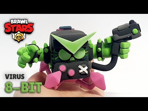 Making new skin Virus 8-Bit :: Brawl Stars Clay-art