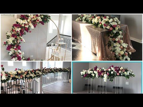AliExpress Grid Arch Decor Part 2 Diy- 4 Easy Ways To Use Flower Rows DIY - Wedding Decor