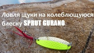 Ловля щуки на колеблющуюся блесну SPRUT GURANO