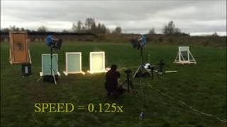 Bulletproof windows with Smart Glass test#1