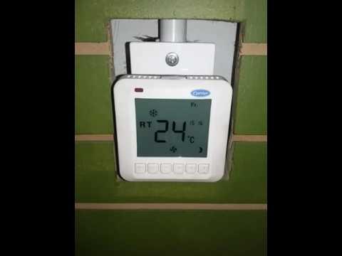 Programacion termostato carrier tst eepd youtube - Termostato frio calor ...