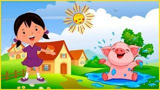 Утро в Деревне, 🐮🐴🐶 Как говорят животные, 🐣Веселая песенка для малышей