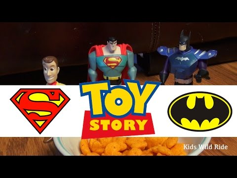 Toys Vs Humans: SNACK ATTACK - Woody TOY STORY 4, Parody, Superman, Batman Toys, Toy Story Toys