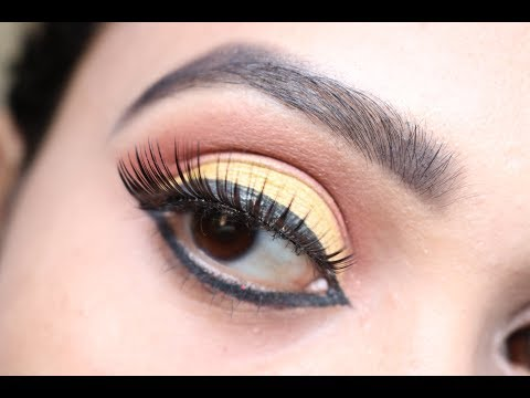 Lemon Lime Yellow Eyeshadow Tutorial || Indian Makeup || Spring/Summer thumbnail