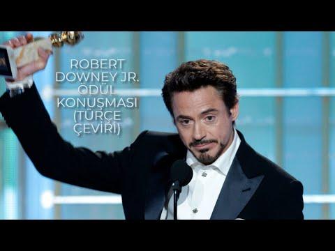 Robert Downey Junior'ın Golden Globes 2010 ödül kabul konuşması  (Türkçe Altyazılı)