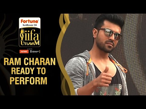 Ram Charan Ready to Perform Live | IIFA Utsavam 2016 Awards | #Be1forChennai