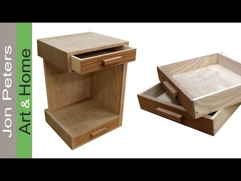How To Build A Bedside Table U2013 Nightstand. FREE PLANS