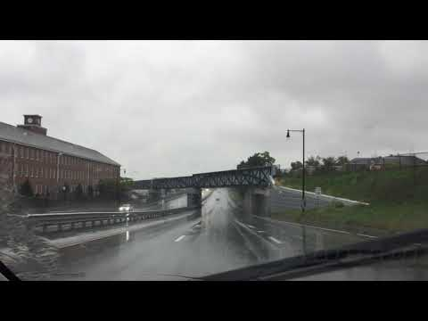 Nasty drive into downtown New Bedford Oct. 12