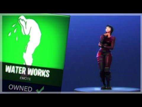 New Dance Water Works Emote Gameplay Fortnite Battle Royale Youtube