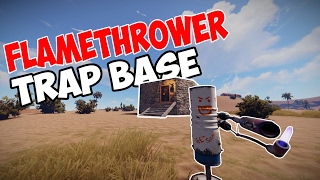 The BEST FLAMETHROWER TRAP BASE in RUST