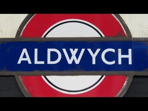 Inside disused Aldwych Underground Station