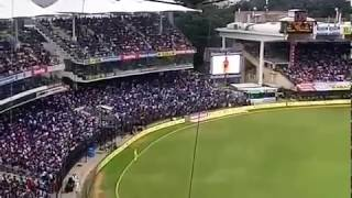 Fans goes crazy on seeing Mersal on chepauk stadium in INDvsAUS match.