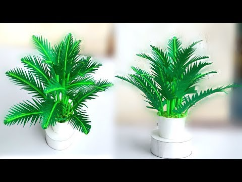 how to make paper leaf plant / home decoration paper plants / easy paper decor