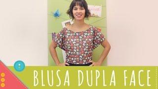 Aprenda a costurar uma blusa dupla face de amarrar