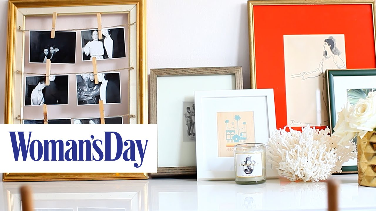 DIY Clothespin Picture Frame | Woman\'s Day - YouTube