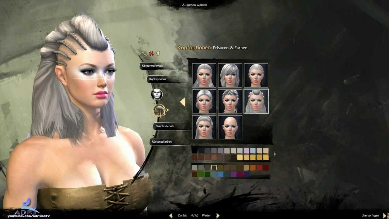 Guild Wars 2 Norn Female Character Creation Youtube