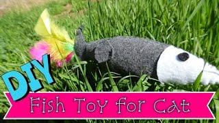 DIY Fish Cat Toy