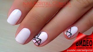 Дизайн ногтей гель-лак shellac - Акрил + роспись (видео уроки дизайна ногтей)