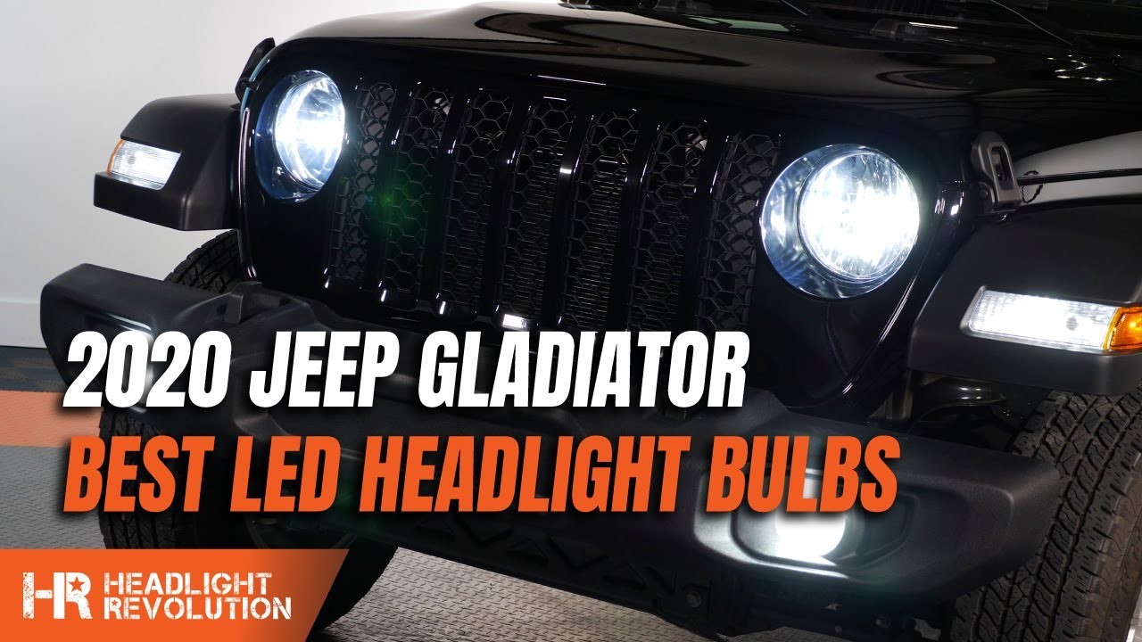 Best Headlamp 2020.Hr Tested 351 Brighter Led Headlight Bulbs 2019 2020 Jeep Gladiator