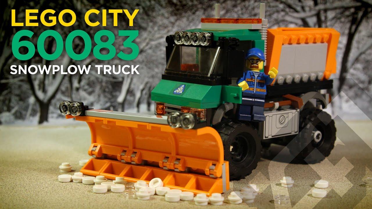 Lego City 60083 Snowplow Truck Stop Motion Build Youtube