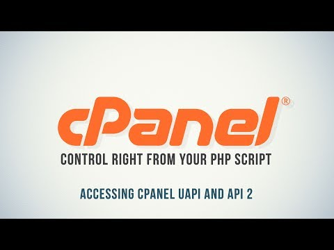 Control cPanel with PHP : Accessing cPanel UAPI and API 2 - Part 3