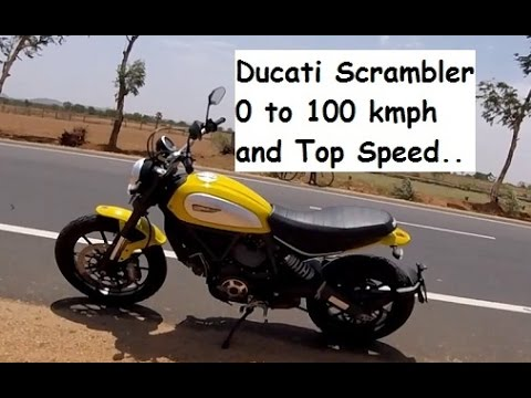 Ducati Scrambler - 0 to 100 kmph and Top Speed Test India.