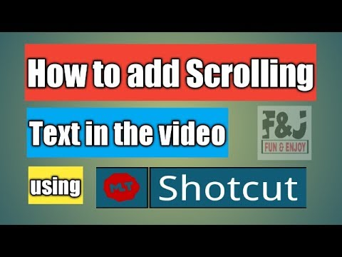 How to add Scrolling Text in Video | Shotcut video Editor Tutorial | Basics of HTML